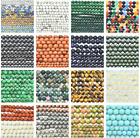 Natural Gemstone Round Beads  Spacer Loose Matte Faceted 4mm 6mm 8mm 10mm 12mm