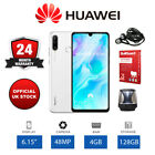 "New Huawei P30 Lite 6.15"" Unlocked Smartphone 128GB Storage, 4GB RAM - White"