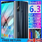 6.3'' X27 Plus Smart Phone Octa Core Android 9.1 Hd 6+128g 4g Mobile Uk Stock