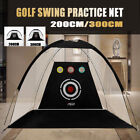 200/300CM Golf Practice Driving Hit Net Cage Training Mat Aid With Cutting Hole
