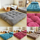 Soft Corduroy Square Cushion Thickening Cotton Large Pad Floor Mat For Seat Sofa