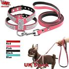 Small Dog Harness And Leash Set Suede Leather Rhinestone Pet Dogs Walking Leads