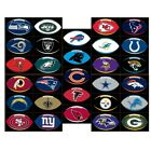 NFL Team logo Football shaped decal, cellphone,laptop,car sticker. Free shipping $1.47 USD on eBay