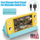 Fast Charger Charging Dock Station Stand w/Type-C Cable For Nintendo Switch Lite