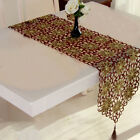 European Table Runner Embroidered Flower Hollow Tablecloth Durable Home Decor