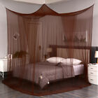 Coffee Four Corners Post Mosquito Net Curtain Bed Netting Canopy Outdoor Indoor image