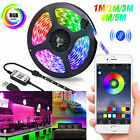 USB LED Strip Lights 5050 RGB TV Backlight Bluetooth APP Remote Music Waterproof