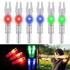 12pcs Hunting Luminous Lighted LED Arrow Nock Tail Fit 6.2mm Arrow Shaft
