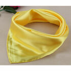 Women's Solid Silk-Satin Kerchief Square Neck Hair Head Scarf Scarves Gift 60cm