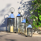 Garden Candle Lantern Stainless Steel & Glass Candle Holder- 5 Sizes Available