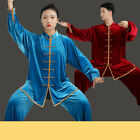 Women Men Martial Arts Uniform Yoga Tai Chi Sets Tang Kung Fu Suit Outfit Thicke
