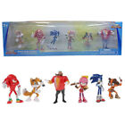 6PCS Sonic the Hedgehog Action Figures Dr Eggman Game Doll Kids Xmas Gift Toy