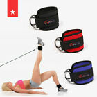 Ankle Straps For Cable Machines Gym Strength Exercise Leg & Glute With D Ring for sale  Shipping to Nigeria