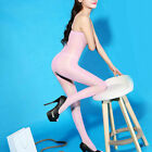 Shiny Bodystocking Lady New Pantyhose Tights Glossy Crotchless Lingerie Sheer