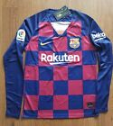 Messi & Griezmann 19/20 FC Barcelona Home Long Sleeve Jersey