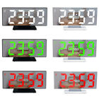Alarm Clock LED Digital Clock Multifunction Mirror Display Time LCD Table Light