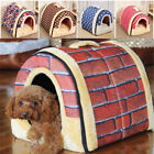 2 in 1 Dog House Cat Igloo Foldable Washable Pet Cat Bed Cave Non-Slip Soft Warm