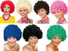 Ladies Mens Curly Afro Wig 1960s 1970s Clown Circus Fancy Dress Costume Outfit