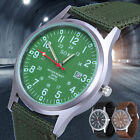 Men's Sport Quartz Date Soft Nylon Strap Army Military Wrist Watches Canvas Band image