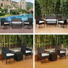 3/4pcs Rattan Wicker Patio Furniture Table Chairs Set Outdoor Backyard Garden