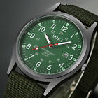 Men's Sport Quartz Date Nylon Strap Army Military Wrist Watches Canvas Band image