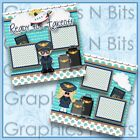 READY FOR TAKEOFF Printed Premade Scrapbook Pages