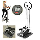 Fitness Workout Exercise Stair Stepper Machine Cardio Equipment W/Handle Bar