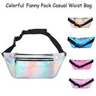 Women's Water Resistant Fashion Holographic Fanny Pack Waist Bag Casual Bag image