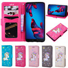Newest Cute Unicorn Wallet PU Leather case Skin Cover for Huawei Samsung LG Sony