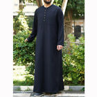 Men Muslim Clothing Saudi Arab Kaftan Islamic Abaya Jubba Long Sleeve Thobe Robe