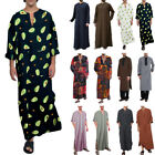 Kyпить Men Muslim Clothing Saudi Arab Kaftan Islamic Abaya Jubba Long Sleeve Thobe Robe на еВаy.соm