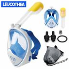 Full Face Snorkel sets Snorkeling Mask Diving Scuba for Gopro adults gifts sale
