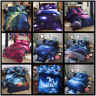 Galaxy Comforter Duvet Cover Flat Sheet Reversible Quilt Outer Space Bedding Set image