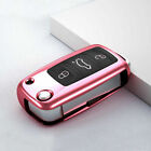 Full-Protective TPU Cabon Key Case Shell Fob Cover For Seat VW Passat Jetta CC