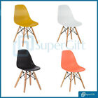 Eiffel Chairs Dining Retro Set 4x Eames Style Tulip Chair Wooden Legs Kitchen