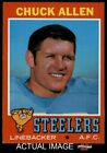 1971 Topps #6 Chuck Allen Steelers Washington 7 - NM $17.0 USD on eBay