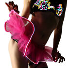 Womens Sexy LED Tutu Skirt Petticoat Glow in the Dark Hen Night Party Dress Up
