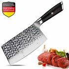 Aroma House Meat Cleaver,7 inch Vegetable and Butcher Knife German High Carbon