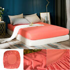 Comfort Fitted Sheet Deep Pocket Bed Sheets Bedding Cover Queen Microfiber