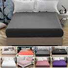 Comfort Fitted Sheet Deep Pocket Bed Sheets Bedding Cover Queen Microfiber image
