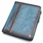 Natural Leather RFID Blocking Men's Top Layer Leather Brushed Wallet Handmade