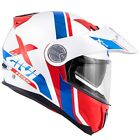 Motorcycle Helmet Givi X.33 Division White Red Blue Triumph Tiger 800 900 1050 $220.82 USD on eBay
