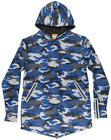 Kyпить ELBOWGREASE REFLECTIVE DROP TAIL HOODIE PULLOVER MENS ATHLETIC TOP BLUE CAMO на еВаy.соm