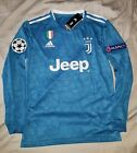 Ronaldo 19/20 Juventus Third Blue Long Sleeve Champions League Jersey
