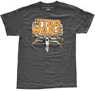 Star Wars X-Wing Orange SW Logo Charcoal Heather Men's Graphic T-Shirt New $11.82 USD on eBay