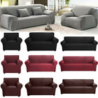 1 2 3 4 Seater Stretch Sofa Cover Couch Bedroom Elastic Slipcovers Protector US