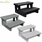 Reversible Treads Hot Tub Spa Steps 2-Tier Bath Pool Side Footsteps Non-Skid