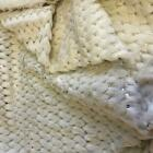 Super Luxury Faux Fur Fabric Material IVORY SEQUINS
