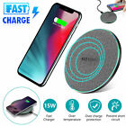 15W Qi Wireless Charger Fast Charging LED Pad Mat For iPhone 11 Pro Samsung S10