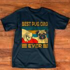 Best Pug Dad Ever Retro Vintage T-Shirt image